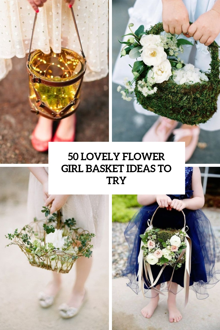 lovely flower girl basket ideas to try cover