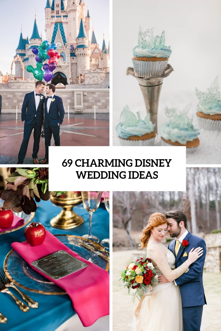 Incredible 69 Charming Disney Wedding Ideas Weddingomania Home Interior And Landscaping Eliaenasavecom