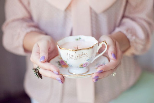 DIY Vintage Teacup Candles For A Bridal Shower