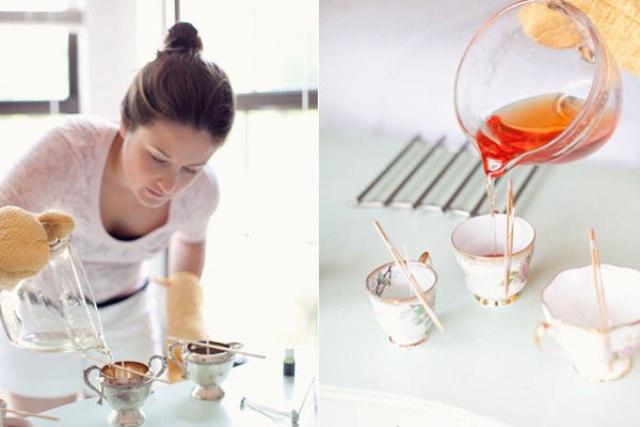 DIY Vintage Teacup Candles For A Bridal Shower
