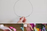 Eye-Catching DIY Silk Flower Crown 3