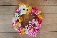 Eye-Catching DIY Silk Flower Crown 5