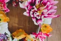 Eye-Catching DIY Silk Flower Crown 7
