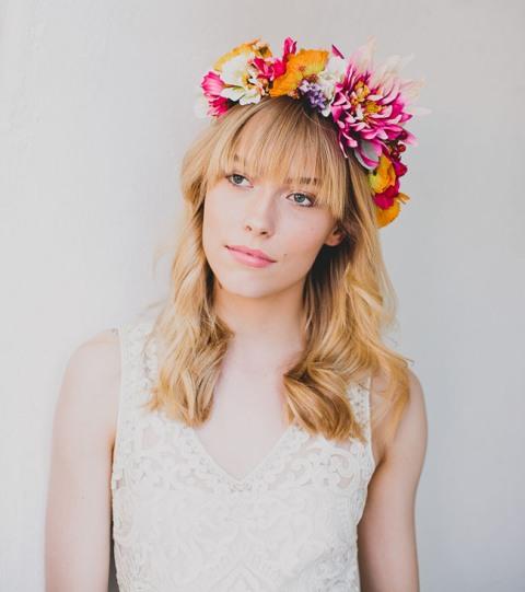 Eye Catching DIY Silk Flower Bridal Crown