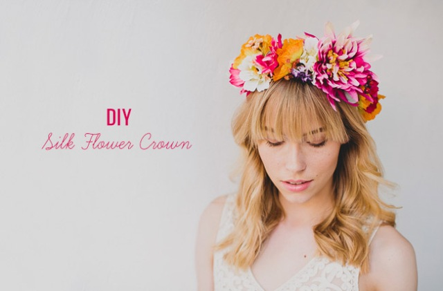 Eye-Catching DIY Silk Flower Bridal Crown