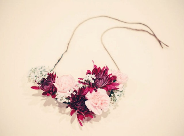 Gentle DIY Floral Necklace For Bridesmaids