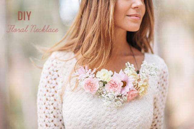 Gentle DIY Floral Necklace For Bridesmaids