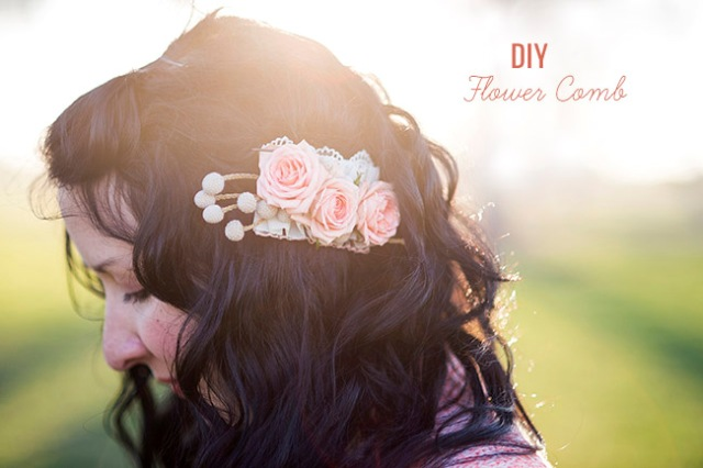 Gentle DIY Flower Comb For Wedding Hairstyles