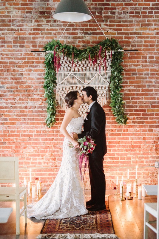 Boho Meets Vintage Chic Wedding Shoot At Historic Factory