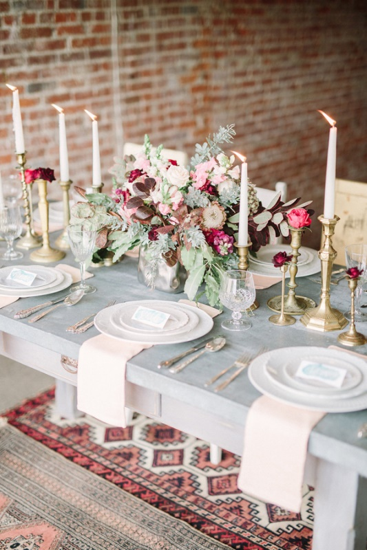 Picture Of Boho Meets Vintage Chic Wedding Shoot At Historic Factory 18