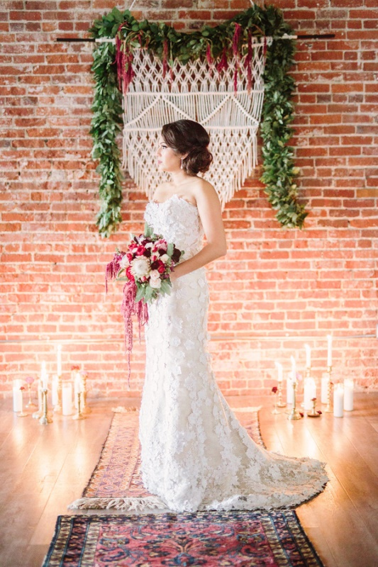 Boho Meets Vintage Chic Wedding Shoot At Historic Factory ...