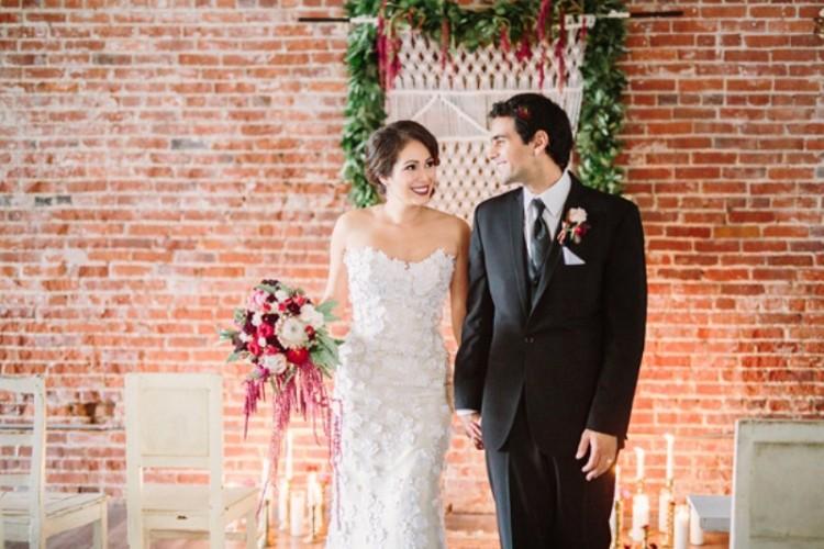 Boho Meets Vintage Chic Wedding Shoot At Historic Factory