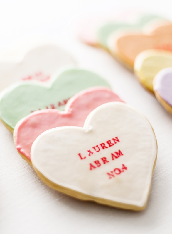 Cute DIY Heart Cookies To Make For Your Wedding Or Bridal Shower