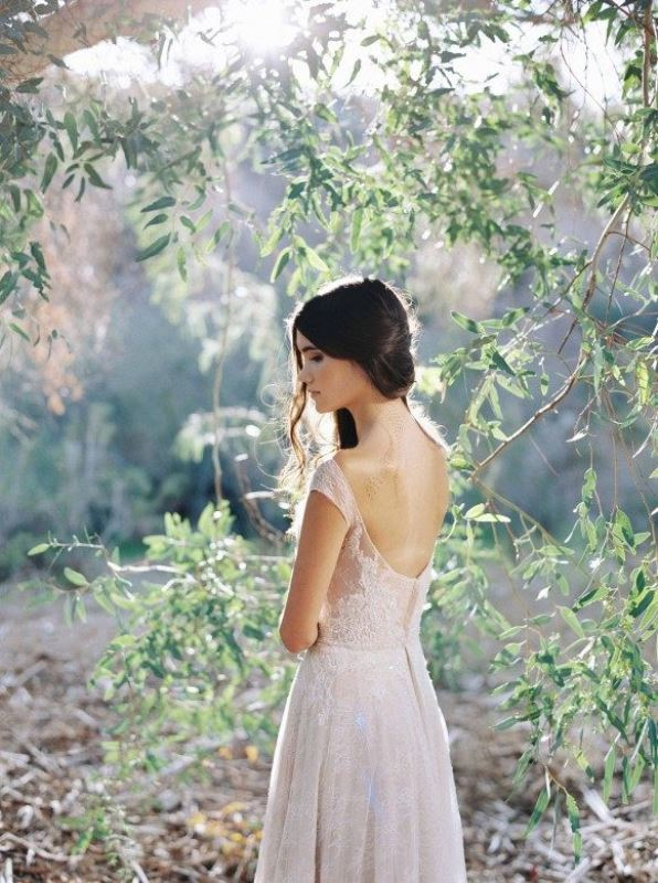 Ethereal And Romantic Woodland Bridal Shoot