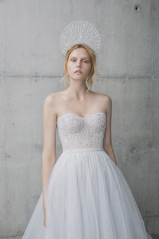 Picture Of ethereal the stardust collection of bridal dresses by mira zwillinger  14