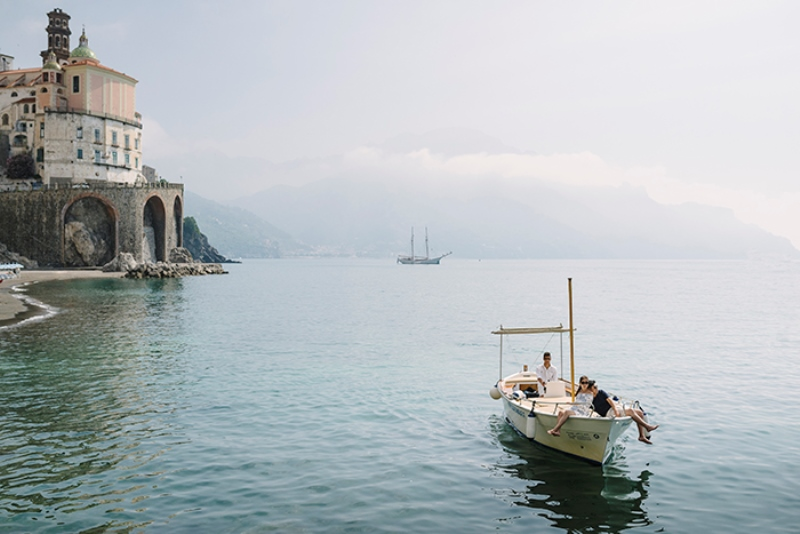 Picture Of intimate coastal engagement session in positano italy  16