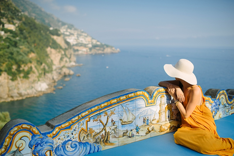 Picture Of intimate coastal engagement session in positano italy  8
