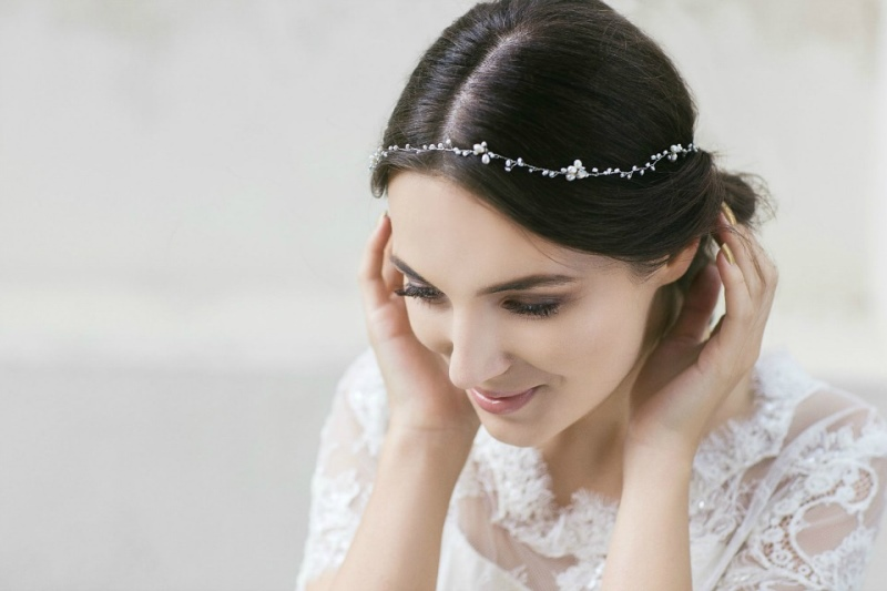 Picture Of organic inspired delicate bridal accessories collection from jurgita bridal  6