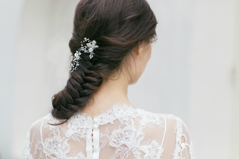 Picture Of organic inspired delicate bridal accessories collection from jurgita bridal  7