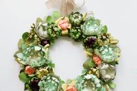 DIY Paper Succulent Spring Wreath