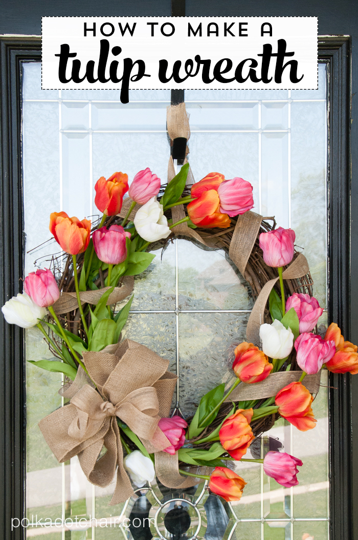 How To Make A Tulip Wreath (via polkadotchair)