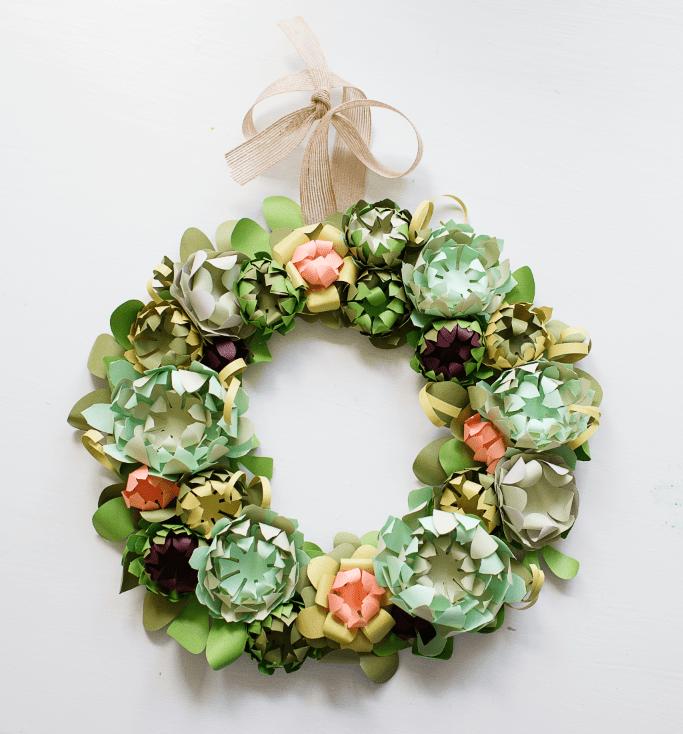 DIY Paper Succulent Spring Wreath (via blytheponytailparades)
