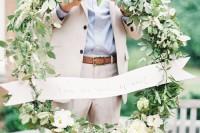 DIY Wedding Ceremony Wreath
