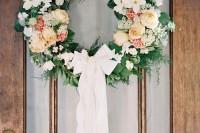 DIY Wedding Door Wreath