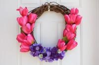 DIY Flower Wreath For Spring And Summer