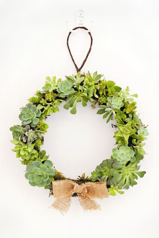 How To Make a Succulent Wreath (via apartmenttherapy)
