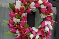 Tulip Door Wreath