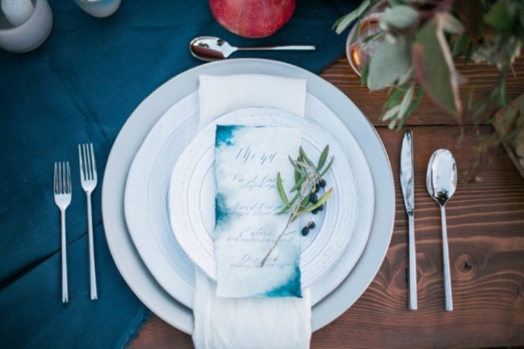 Relaxed And Intimate Indigo Outdoor Wedding Inspiration