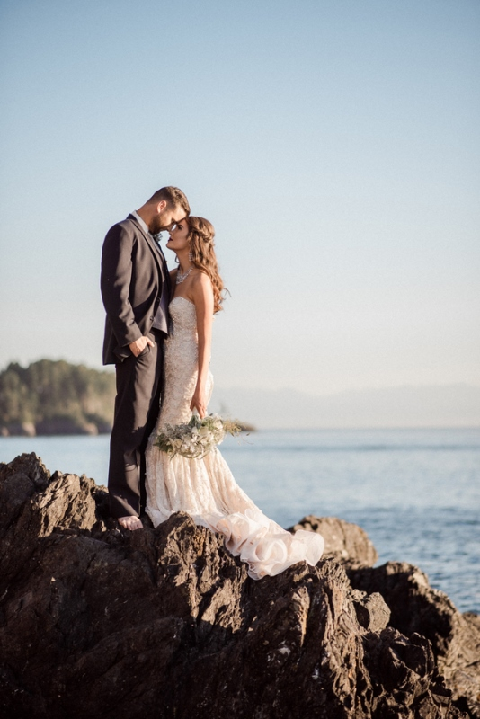Romantic Mermaid Wedding Editorial At The Moonlit Coast