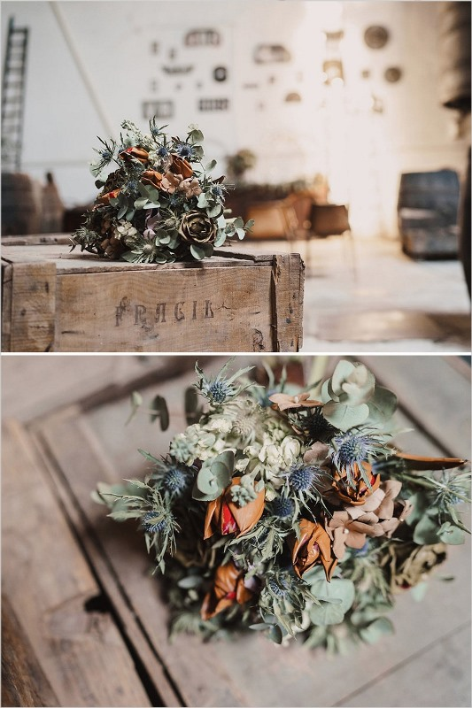 Picture Of stylish industrial and rustic inspired wedding ideas  4
