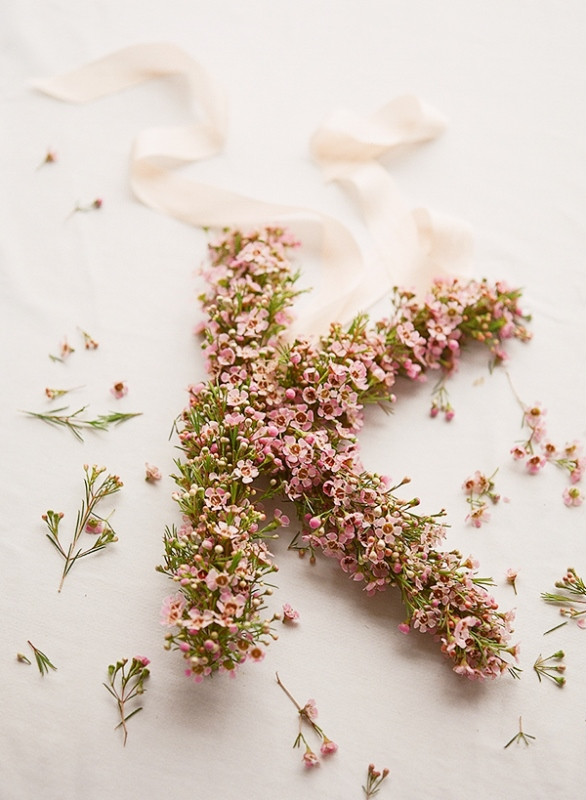 Sweet DIY Floral Letter For Spring Wedding Decor