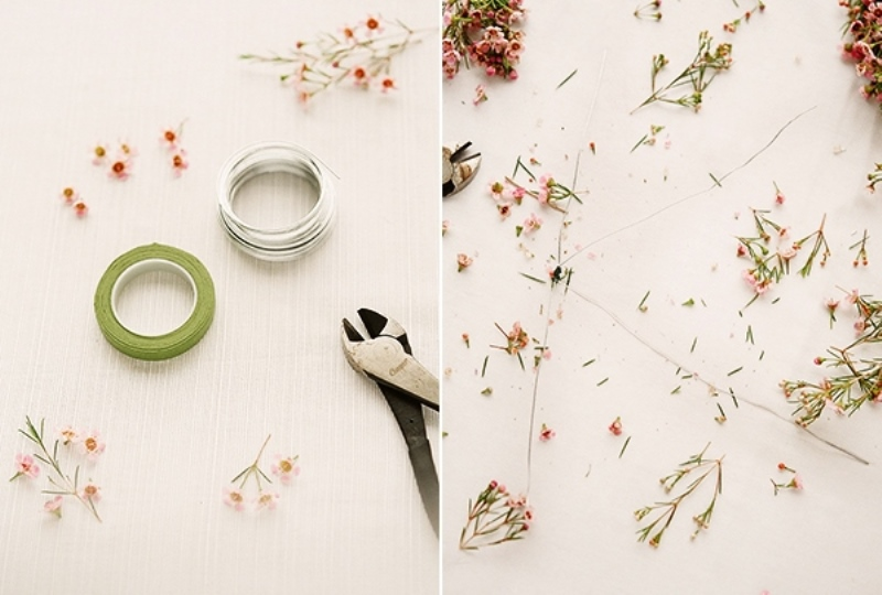Picture Of sweet diy floral letter for spring wedding decor  2