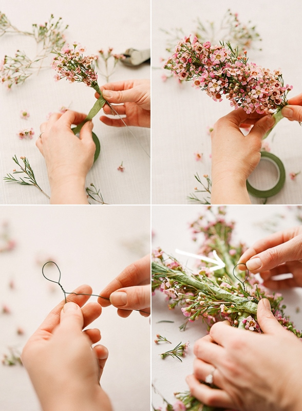 Picture Of sweet diy floral letter for spring wedding decor  3