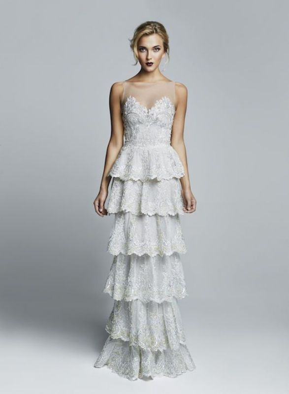 The Hottest 2016 Wedding Trend: 16 Flirty Tiered Gowns For A Bride ...