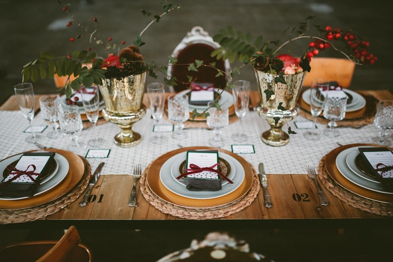 Picture Of unique industrial and vintage inspired fall italian wedding  11