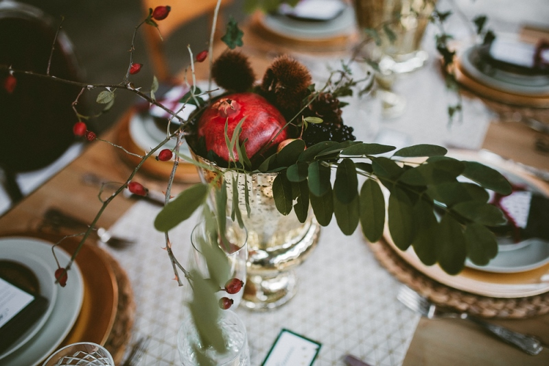 Picture Of unique industrial and vintage inspired fall italian wedding  12