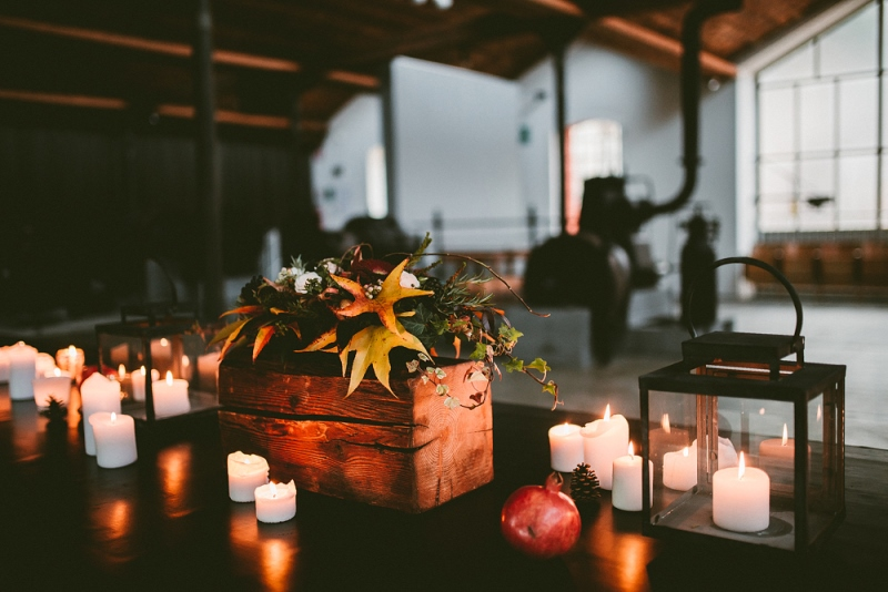Picture Of unique industrial and vintage inspired fall italian wedding  13