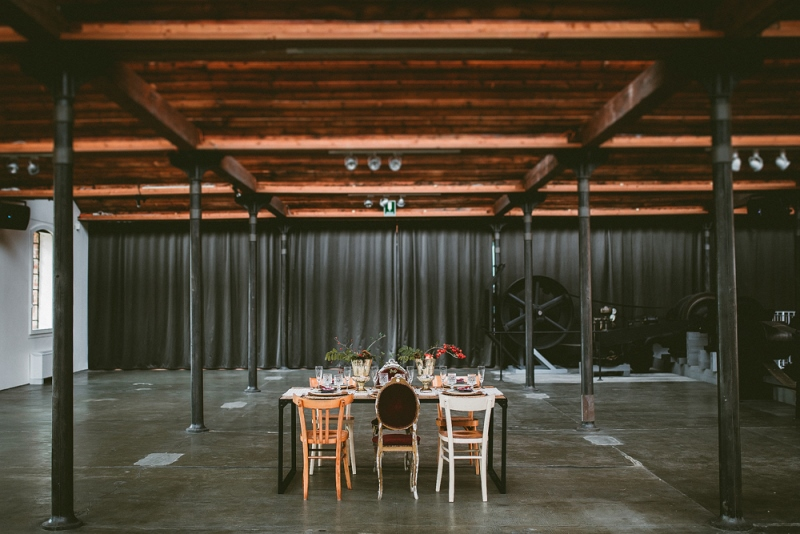 Picture Of unique industrial and vintage inspired fall italian wedding  16