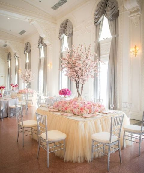 Outdoor Wedding Reception Ideas: 21 Gentle Ideas To Incorporate Cherry Blossoms Into Your