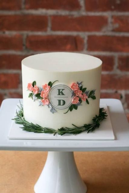 Unique Monogrammed Wedding Cakes