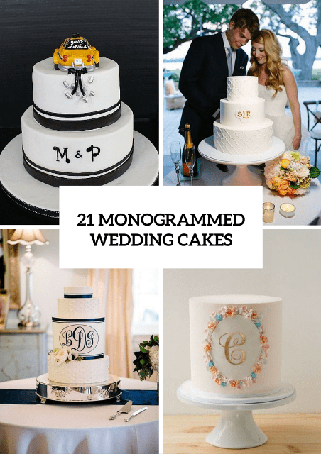 21 Unique Monogrammed Wedding Cakes