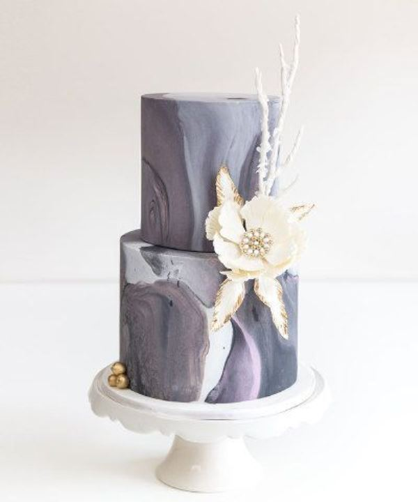 Picture Of chic and luxurious marble wedding cakes  14