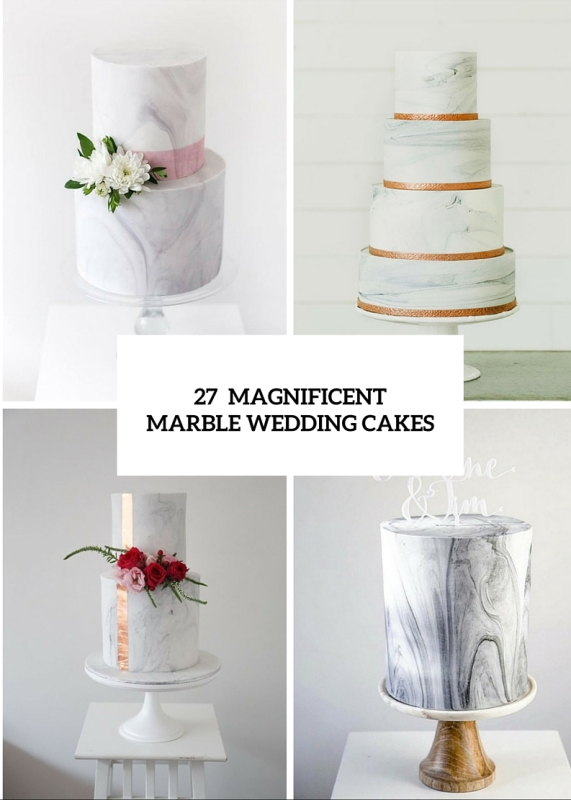 27 Chic And Luxurious Marble Wedding Cakes