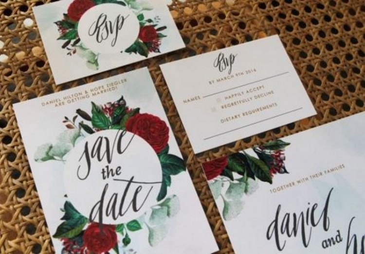 Trendy Bold Botanicals Wedding Stationery Ideas