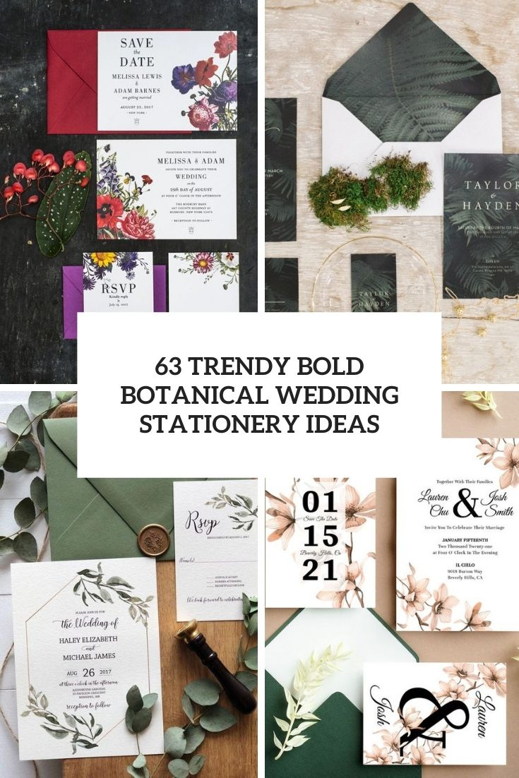 28 trendy bold botanicals wedding stationery ideas