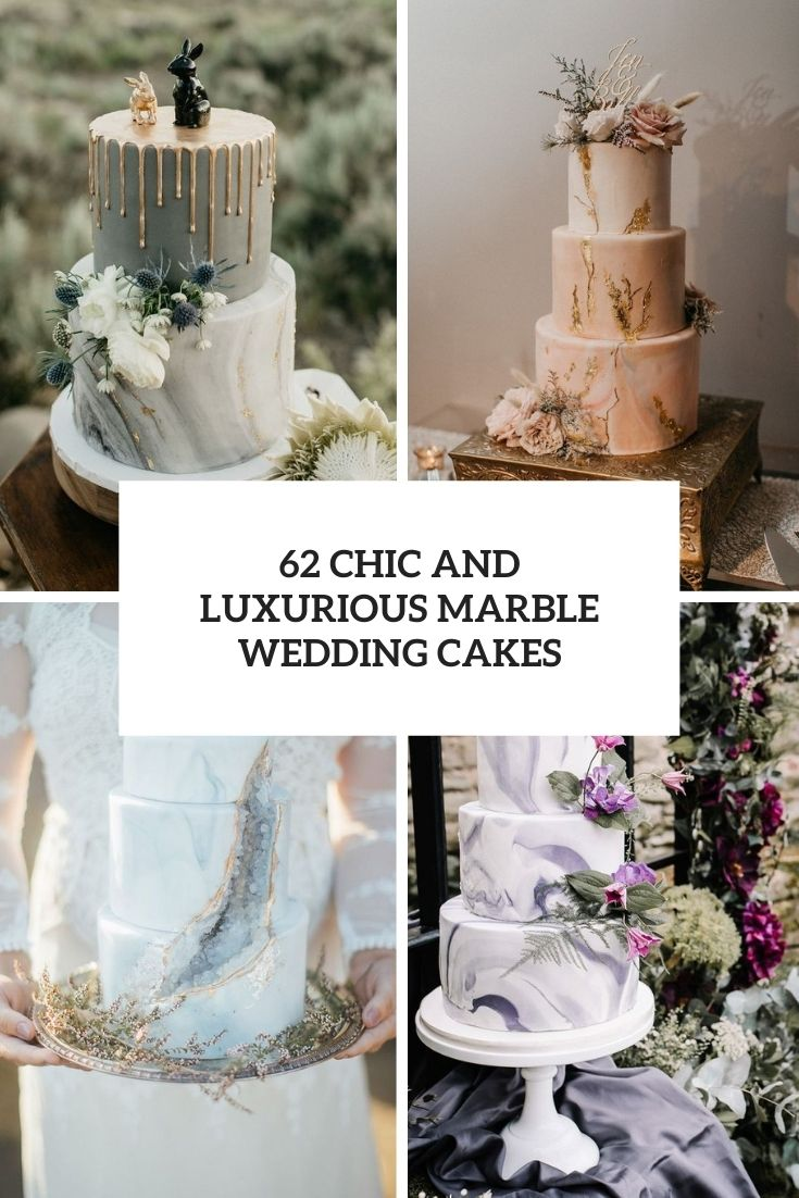 62 Chic And Luxurious Marble Wedding Cakes